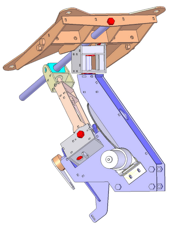 mécanisme triangle pour parabole solaire