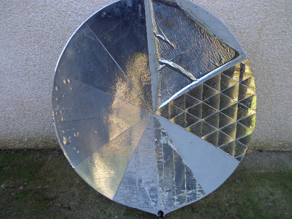 essai de surfaces reflechissantes apres 4 ans d' exposition aux intemperies