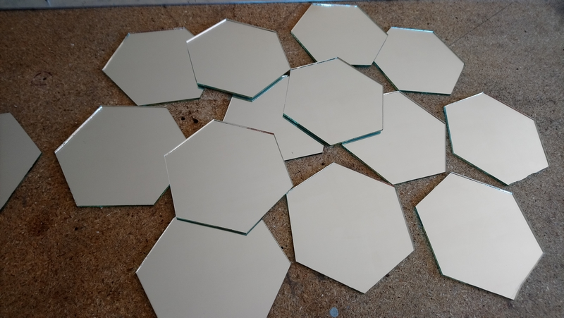 hexagones découpés